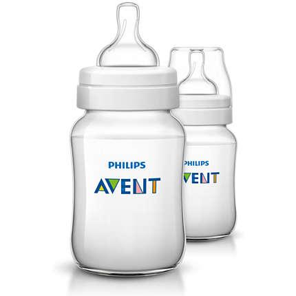 PhilipsAventIran.Com,اونت,بطری شیر خوری کلاسیک + دوقلو (260 میلی لیتر) SCF563/62