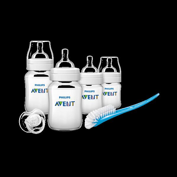 PhilipsAventIran.Com,اونت,پک هدیه - ست شیشه شیر طبیعی نوزاد SCD290/01